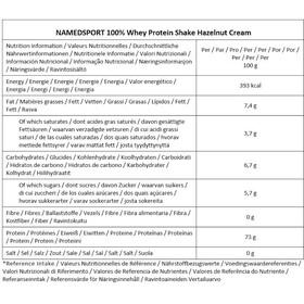 NAMEDSPORT 100% Whey Protein Boisson 900g, Hazelnut Cream